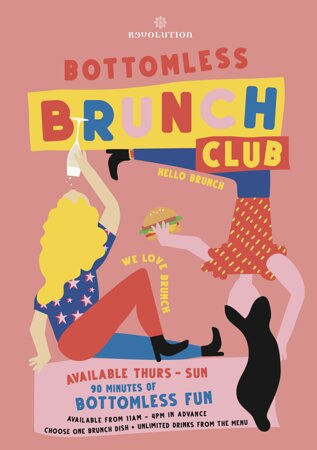 Bottomless Brunch - 90 minutes of bottomless drinks, including a delicious brunch dish - available Thursday to Sunday!