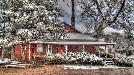Main Ranch House in winter