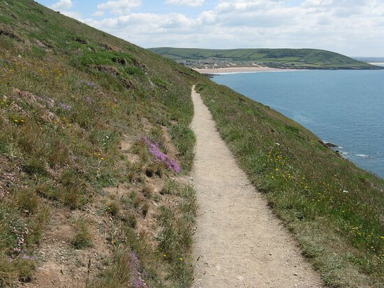 Looking back to Croyde Bay