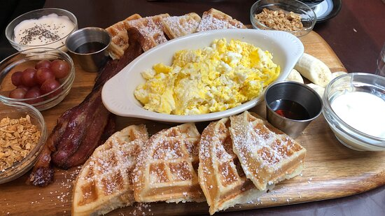 Breakfast board--perfect to share!