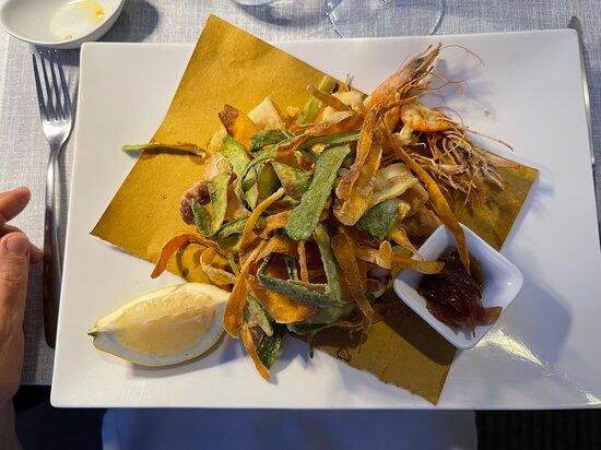 Fritto misto pesce e verdure