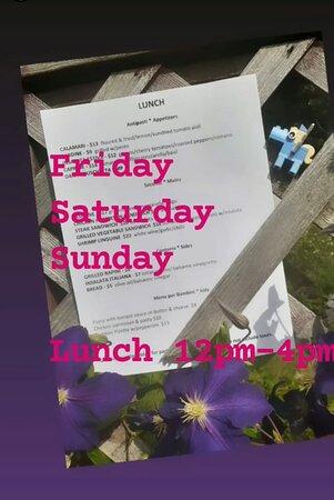 Every Friday Saturday Sunday 12-4 pm