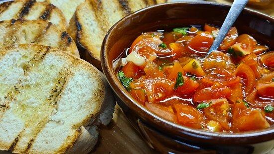 Bruschetta con pomodorini