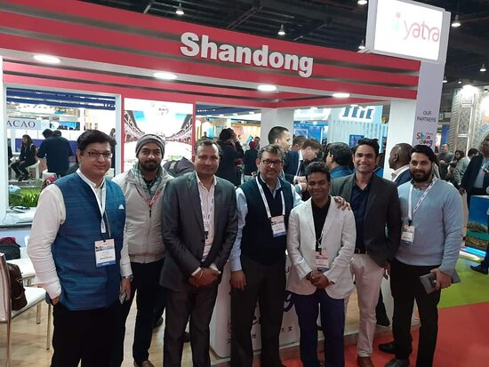Patna, India: With Akash Poddar and Yatra.com team COO, Yatra.com At SATTE, New Delhi Abhijeet Kumar, Founder, National Travelterminal
