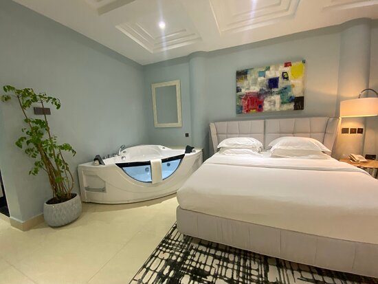 King Bed and Jacuzzi in-suite for your enjoyment and relaxation