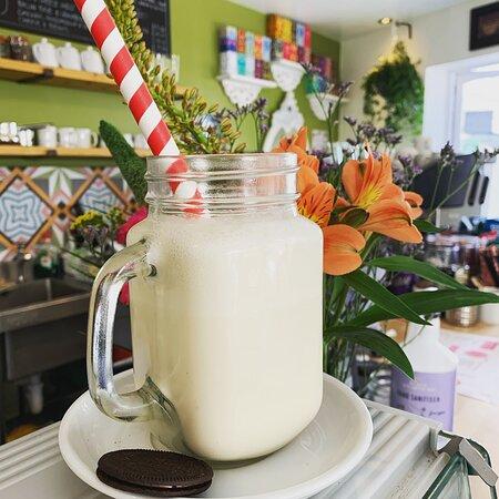 Fresh Banana Milk Shake makes this so GOOD!