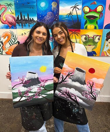 Champainting by Cork and Canvas is Australia's first paint and sip studio.