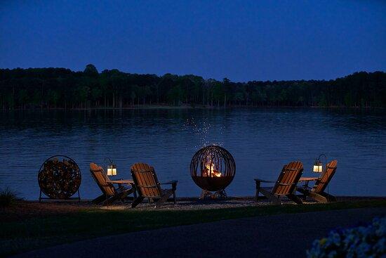 Fire Globe at Night