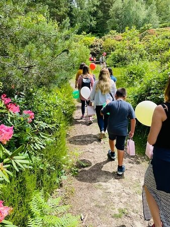A birthday party adventure into the gardens