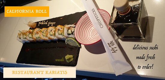 Fresh sushi served every evening rolled fresh to order!