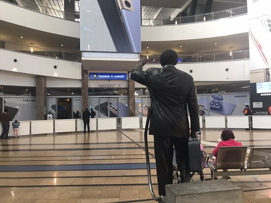 We are now doing Accra flight to Or Tambo airport,  the flight has arrived we only waiting for meet and greet with our client . #matodzitoursrocks
