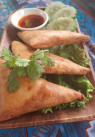 Thai chicken curry puff