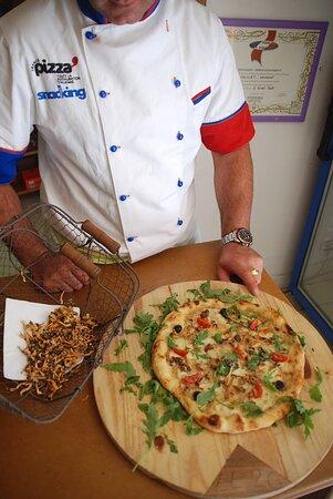 pizza aux chanterelles