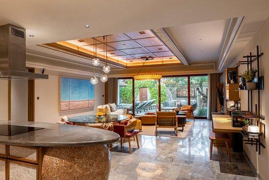 Living room at Beach Villa