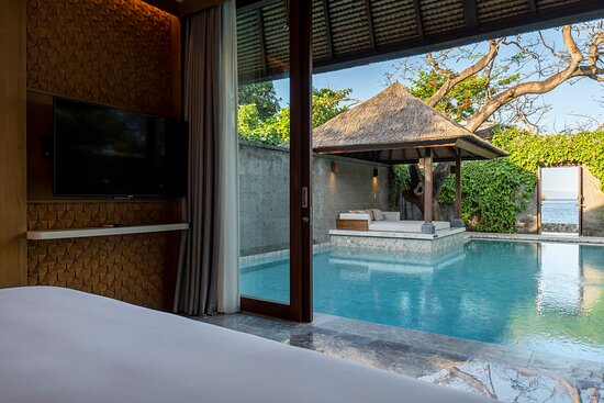 View from Beach Villa's bathroom