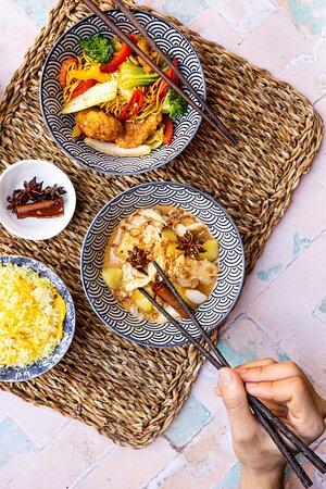 Massaman Curry  With onions, potatoes, peanuts and crispy shallots