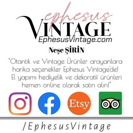 """""""Otantik ve Vintage Ürünler arayanlara harika seçenekler Ephesus Vintage'de! %100 El yapımı hediyelik ve dekoratif ürünleri hemen online olarak satın alın!"""""""