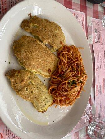 Das Picata Milanese, echt fein und könnte besser gewürzt sein