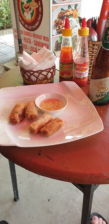 the spring rolls and that amazing dipping sauce!
