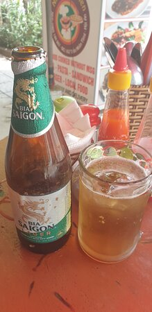 Iced beer.