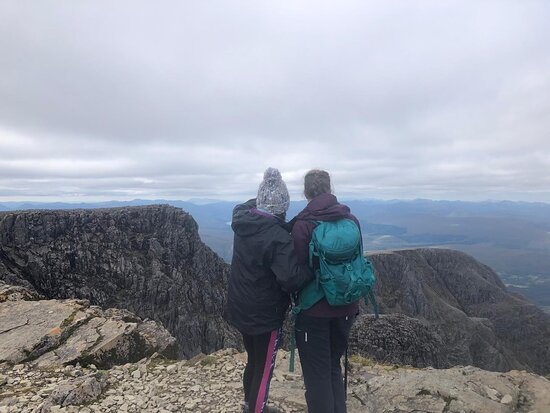 The top of Ben Nevis, the U.K's highest mountain