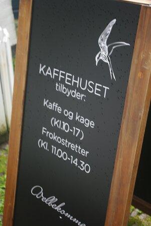 Kaffehuset tavle