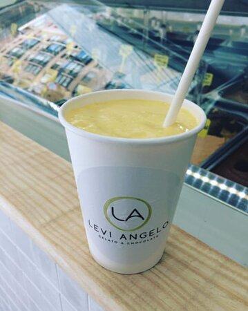 Batido de mango / Mango Milkshake 100% natural sin colorantes
