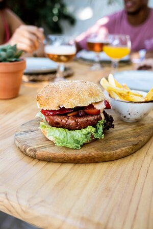 Nuestra burger vegana!