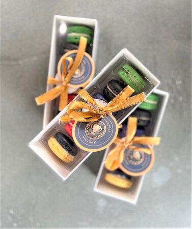 Custom staff appreciation gift box macarons