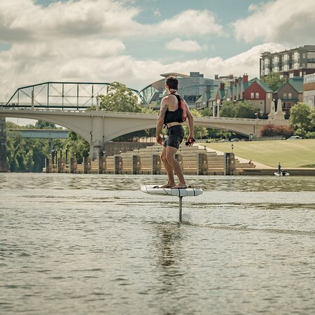 eFoil (electric hydrofoil) surfboard in Chattanooga