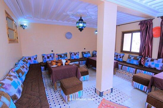 Moroccan Salon at Hotel Ghazal in Imlil, Morocco