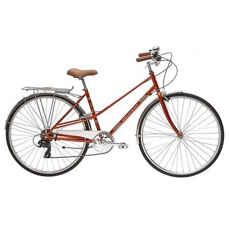 """Bicicleta Vintage Peugeot LC01 D7 naranja con ruedas de 28"""" y 7 velocidades. Envío gratuito en 48/72h. https://lapedaleria.es/bicicleta-vintage-peugeot-lc01-d7/"""