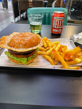 Probably the best burger and fries I've ever had from a restaurant.