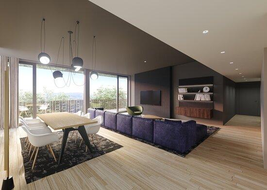 Salon / Salle à Manger - Appartement Penthouse