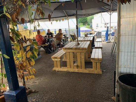 Lots of new bench tables under cover