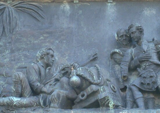 Detail of Indian Wars Plaque