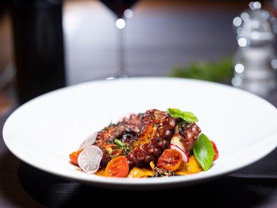 Octopus ravioli