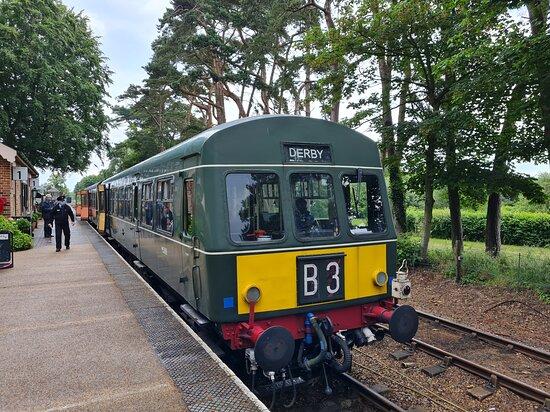 Foto de North Norfolk Railway, Sheringham: Entering Holt on Steam train - Tripadvisor