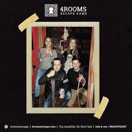 4ROOMS Escape Game www.4roomsescape.com Trg republike 25, Novi Sad +381 69 476 23 67