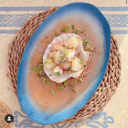 Tapas de Pulpo , patata y pistachos 😍🤤