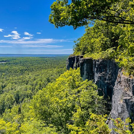 View from one of the points at the top of the escarpment.