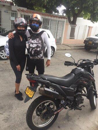 Conociendo la ciudad de la mejor manera!!  Encuentra en Motorent Santa Marta, las mejores motos del Caribe.