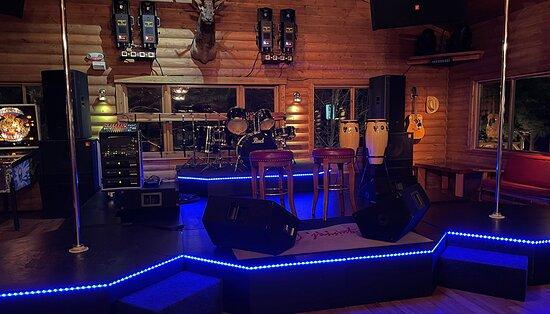 Indoor live performance stage ~ Squirrel Creek Lodge