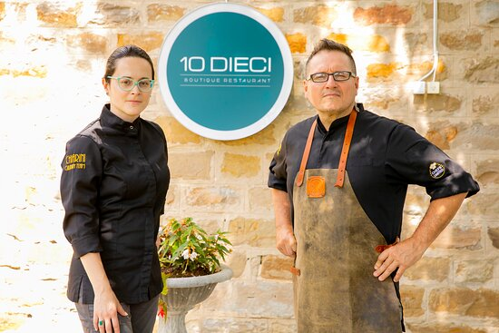 Chefs Anna and Gianfranco Chiarini (owners) @ Dieci Boutique Restaurant.