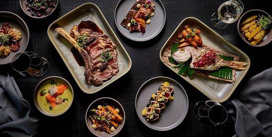 Roundhouse - Crystalbrook Kingsley - Dinner spread