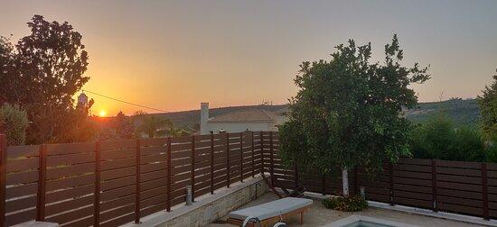 Villa Lydia at dawn.