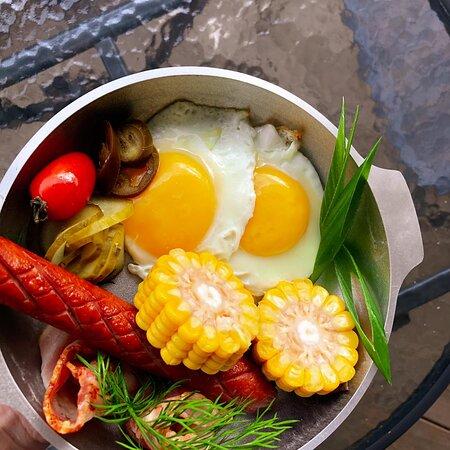 Очень сытный завтрак