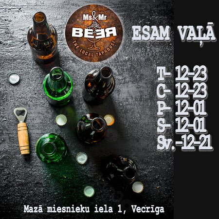 WE ARE OPEN! HOT ROCK & COLD BEER at the very heart of Old Riga Town! 1 maza Miesnieku street. +37125902525