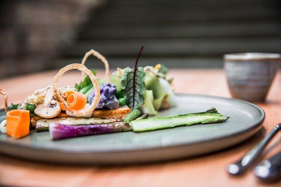 Tofu - Miso - Sprossen - Gemüse