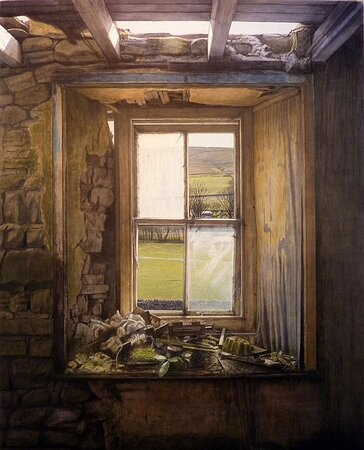 Carol also shows originals and prints by artist Paul Stangroom in the gallery. This is 'Window'.